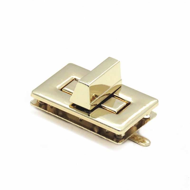 Gold Custom Square Metal Bag Lock