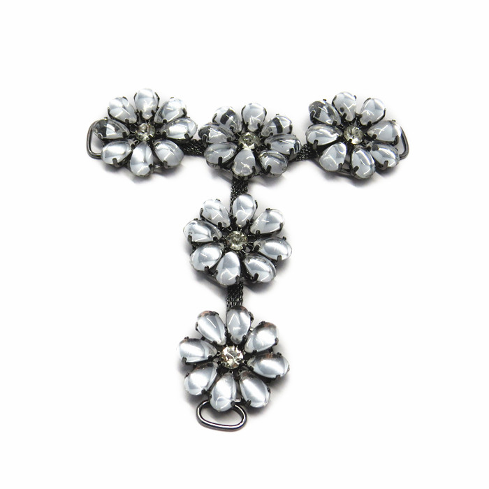 Metal Flower Shoe Chains Jewelry Accessories