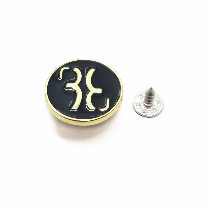 20mm Black Metal Button For Jeans