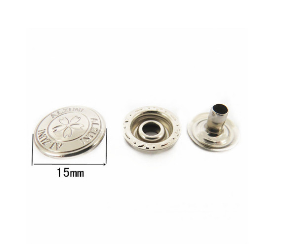 15mm Brass Metal Round Press China Snap Button