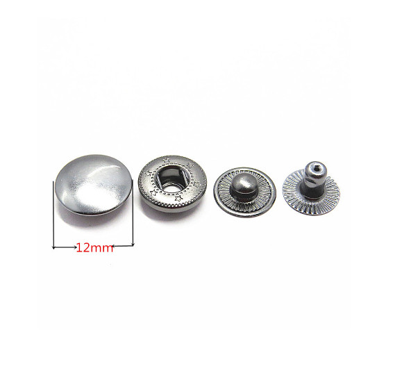Custom 12mm Metal Spring Snap Clip Button