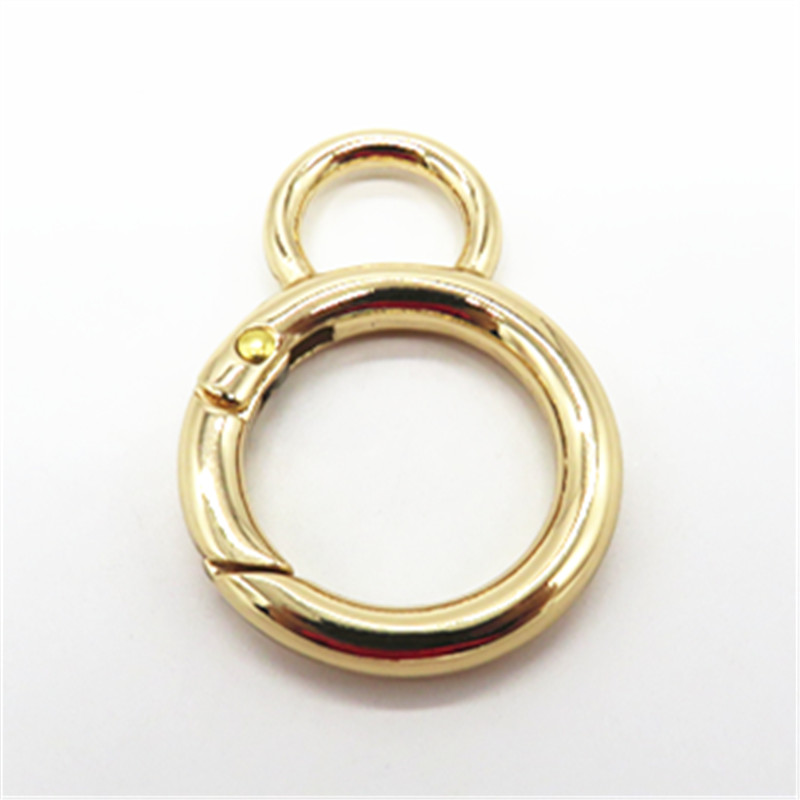 25MM Gold Plated Metal Trigger Snap Ring Spring Gate O Ring Hook For Bags