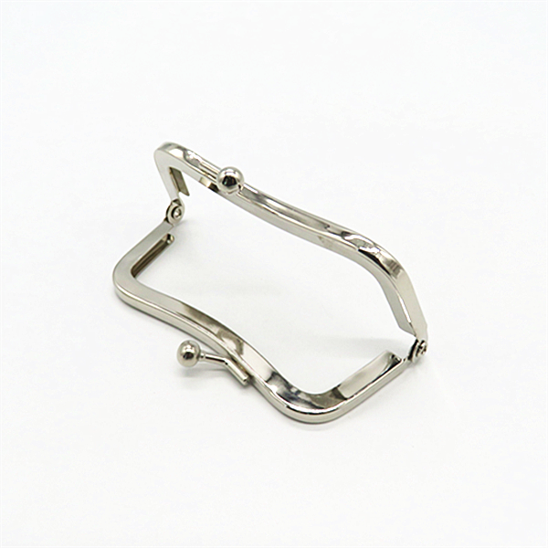 Nickle Free Plated Metal Frame Kiss Lock Frame For Wallet