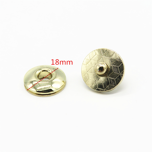 Round Magnetic Snap Button Fasteners