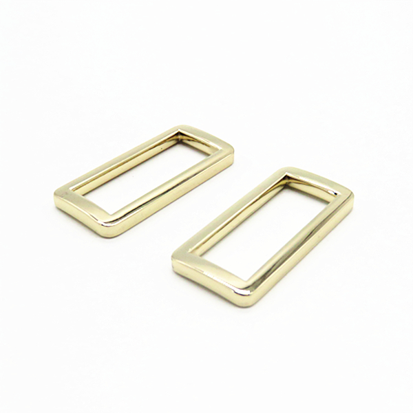 Zinc Alloy Metal Handbag Gold Square Ring