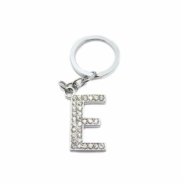 35mm Custom Crystal Metal Letter Keychain,letter keychains
