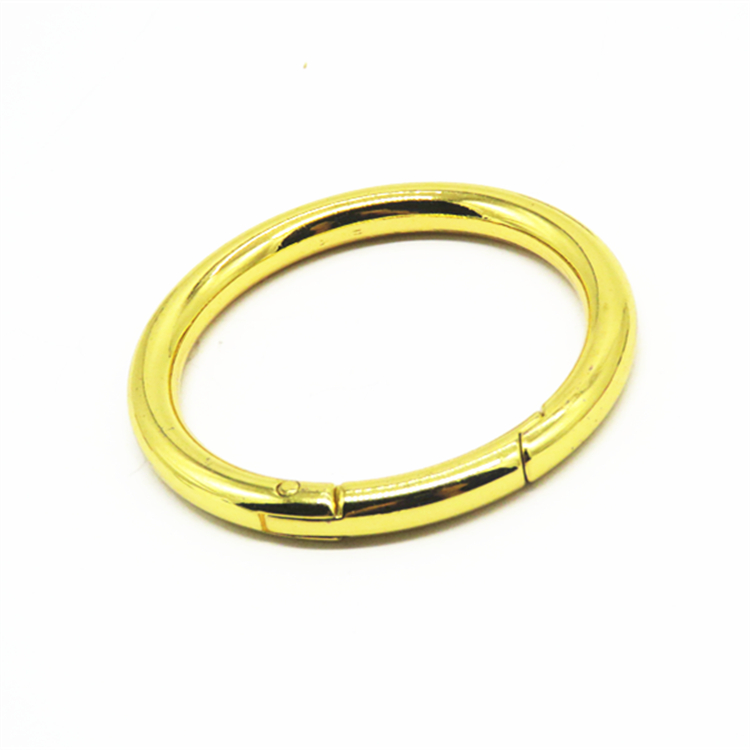 High Quality Gold Zinc Alloy Metal O Gate Ring Round Carabiner Hooks