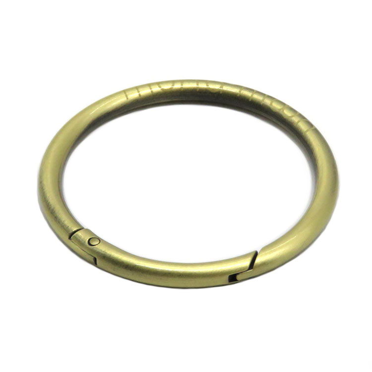 High Quality Custom Logo Design Metal Zinc Alloy Spring O Ring